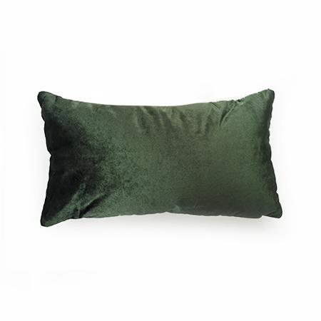 cojin rectangular velvet verde